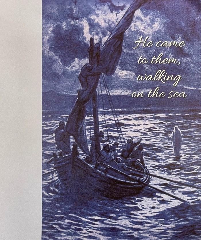 Pentecost 9 Bulletin Cover. He came to them walking on the sea. Immanuel Lutheran Church LCMS. Joplin Missouri.