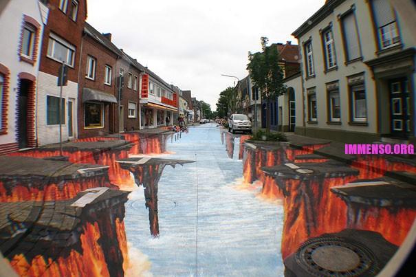 3d Pavement Art Earthquakes