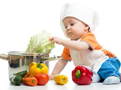 Baby gesund Kochen Gemüse