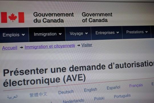 Demande d'AVE pour le Canada