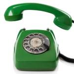 Bild grünes Telefon Kontakt