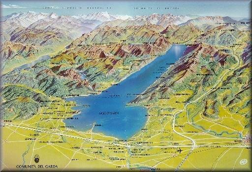 Cartina Topografica Lago Di Garda.Lago Di Garda Mappa Turistica Stufa A Pellet