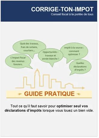 Guide déclaration impot sur les revenus fonciers d'une location non meublée