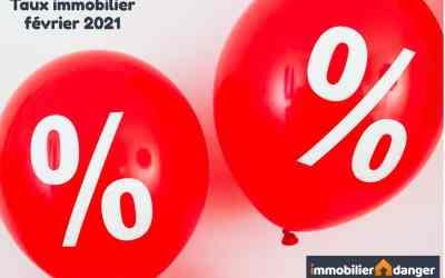Taux de prêt immobilier en février 2021
