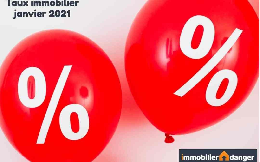 Taux de crédit immobilier en janvier 2021