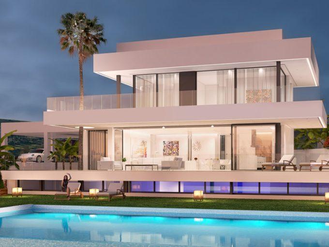 Les villas offrent une vue imprenable sur la mer Méditerranée