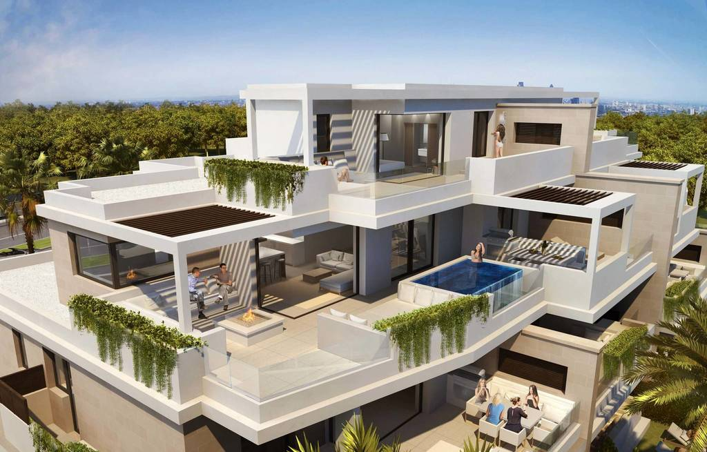 3 bedroom luxury penthouse for sale in Estepona, Andalusia2