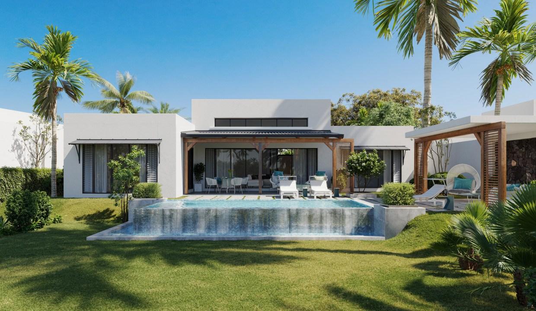 LR Island Villa - Front Garden View