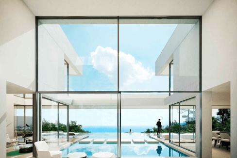 villa est conçue dans un style architectural contemporain