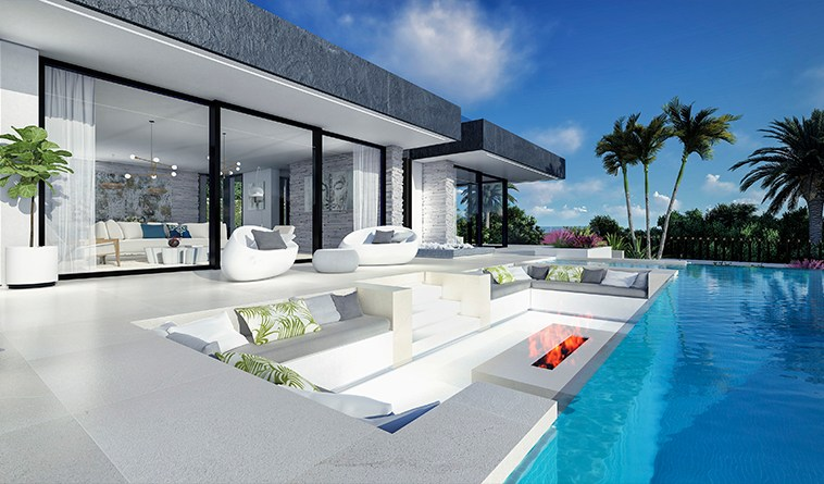 Villa sur plan de 4 chambres avec vue sur la mer sur la Costa del Sol Benahavis|Villa sur plan de 4 chambres avec vue sur la mer sur la Costa del Sol Benahavis|||||