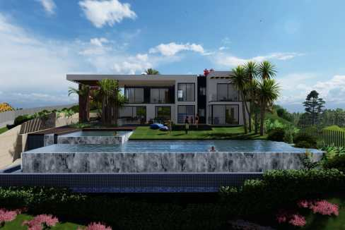 Villas au style architectural contemporain0