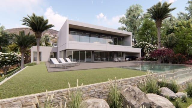 Villa avec une piscine à débordement surplombant la mer Méditerranée|Villa avec une piscine à débordement surplombant la mer Méditerranée||