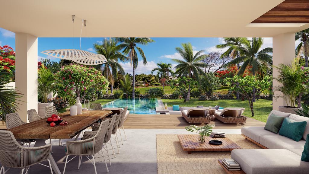 villa sur plan île Maurice par Immobilier Swiss