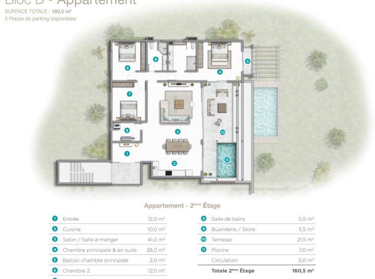Programme immobilier neuf de villas de luxe avec piscine lagon à l'île Maurice