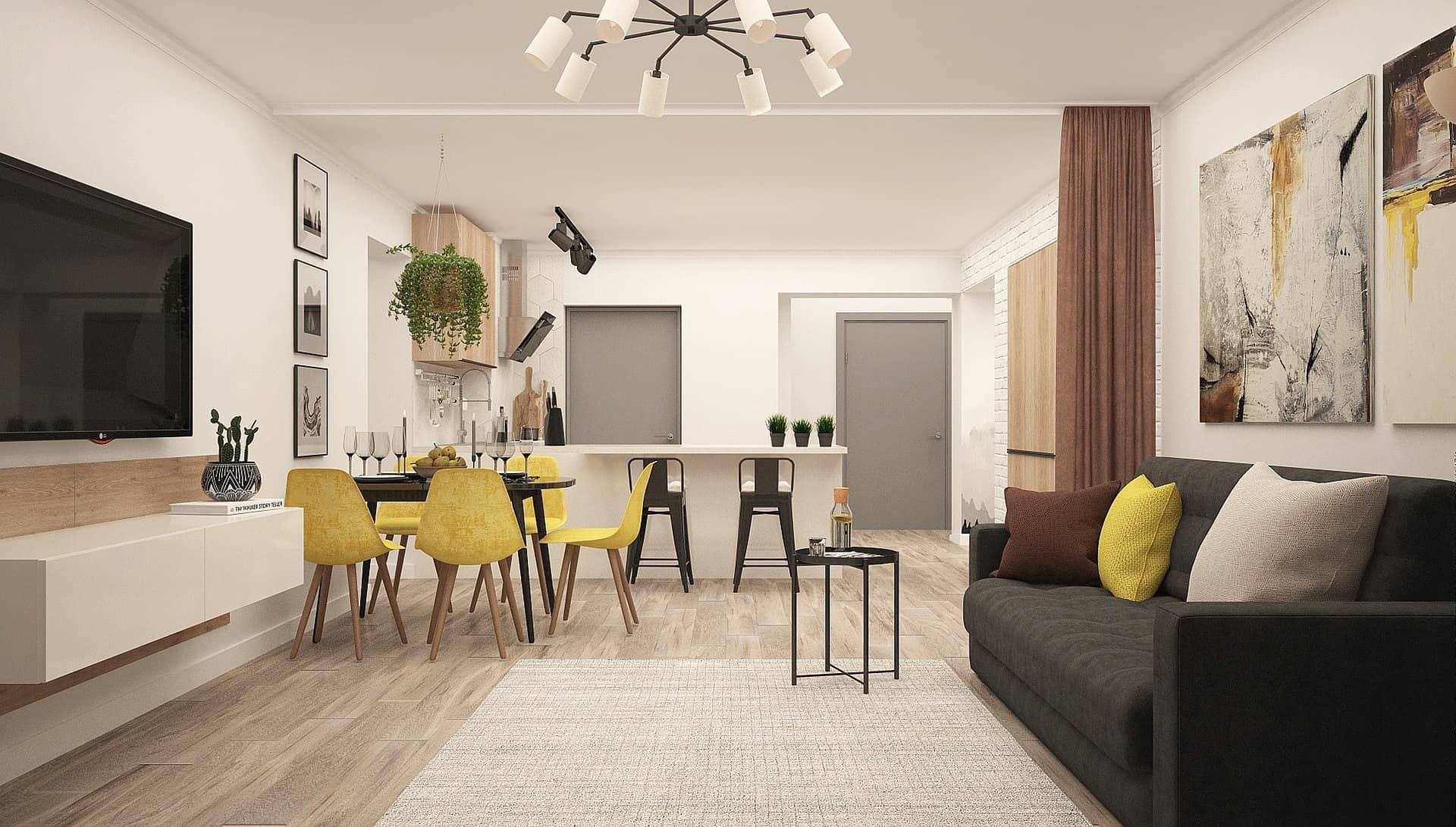 Idee separazione cucina soggiorno, dal soffitto colorato alle tende, le. Idee Per Dividere Cucina E Soggiorno Immobili Ovunque