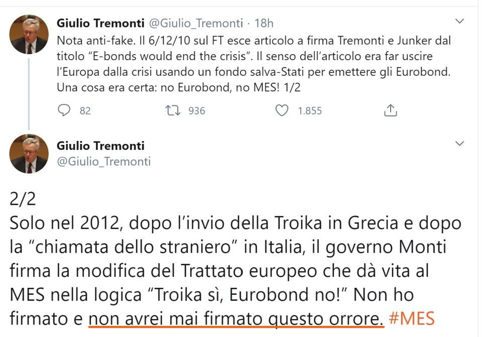 La memoria di Tremonti