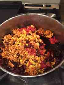Here's the turkey chili I made with the extra ground turkey