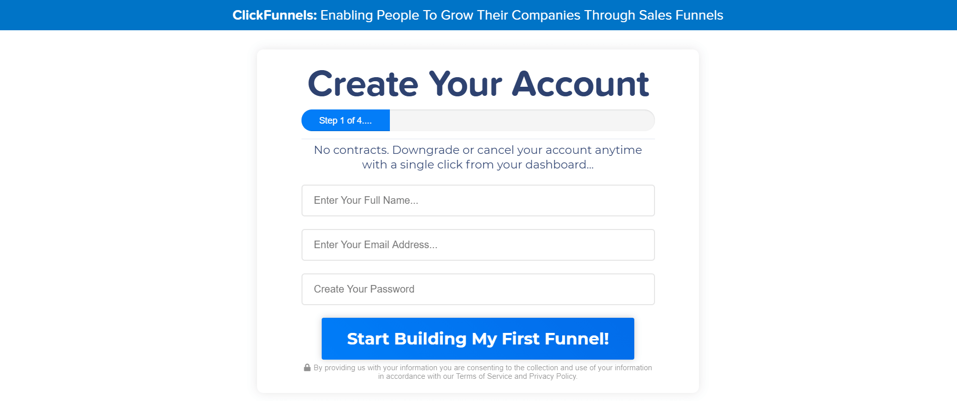 leads access for the clickfunnels website