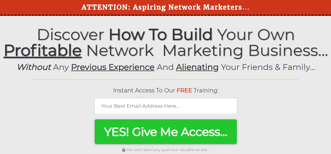 network marketing company sales funnel