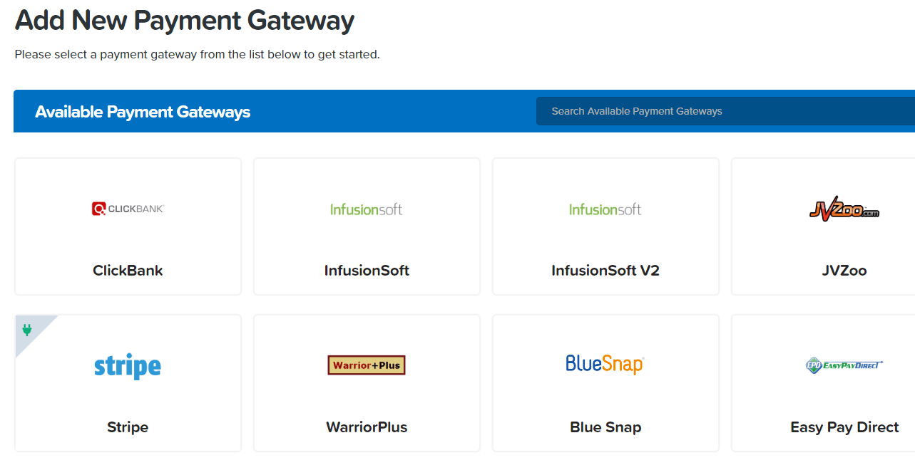 clickfunnels payment gateways