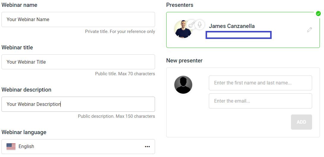 live webinar setup