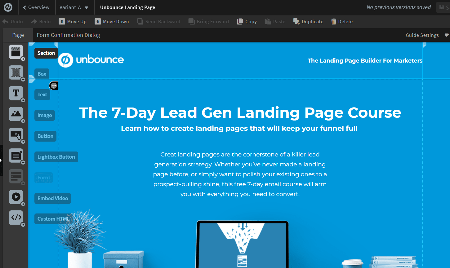 unbounce landing page builders and templates