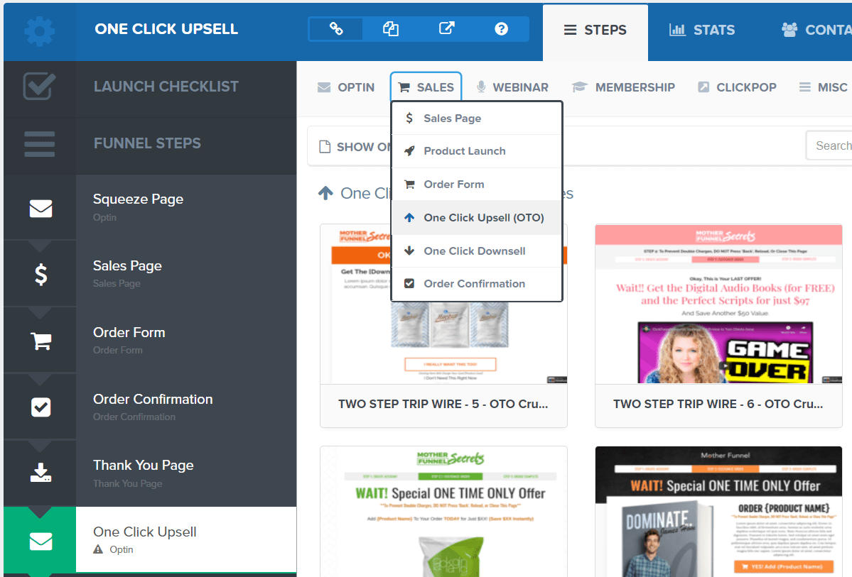 free clickfunnels upsell template