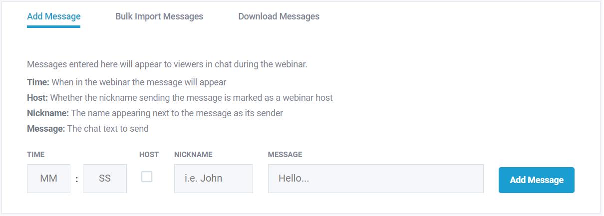 stealth seminar live chat mimic