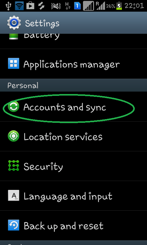 Synchronize Android contact with Gmail contact uploaded