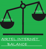Check Internet balance Airtel 2G/3G or data pack of Airtel