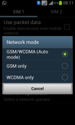 Android Internet connection to work in 3G or HSPA mode