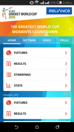 Cricket World Cup 2015 Live Score, Fixtures, News in an App - Download