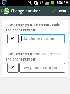 Change registered mobile number in WhatsApp