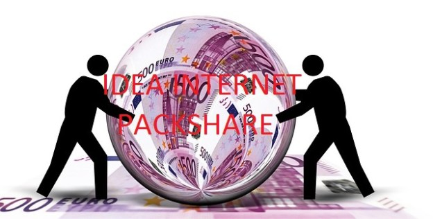 Transfer and Share Internet data pack, SMS and Local Minutes from Idea to Idea