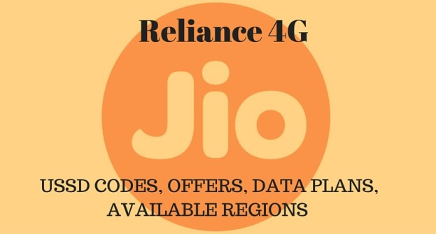 Reliance 4G JIO- Ussd Codes, 4G Data Offers, network states