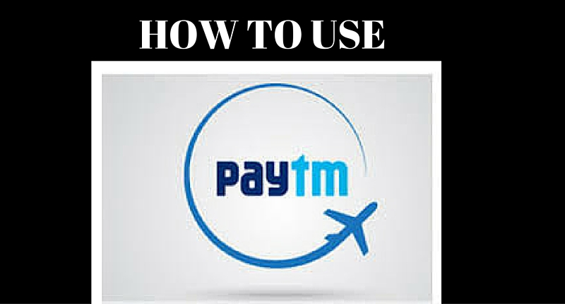 HOW TO USE PAYTM