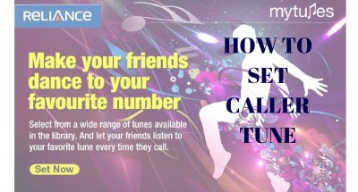 Reliance - 3 steps to set caller tune