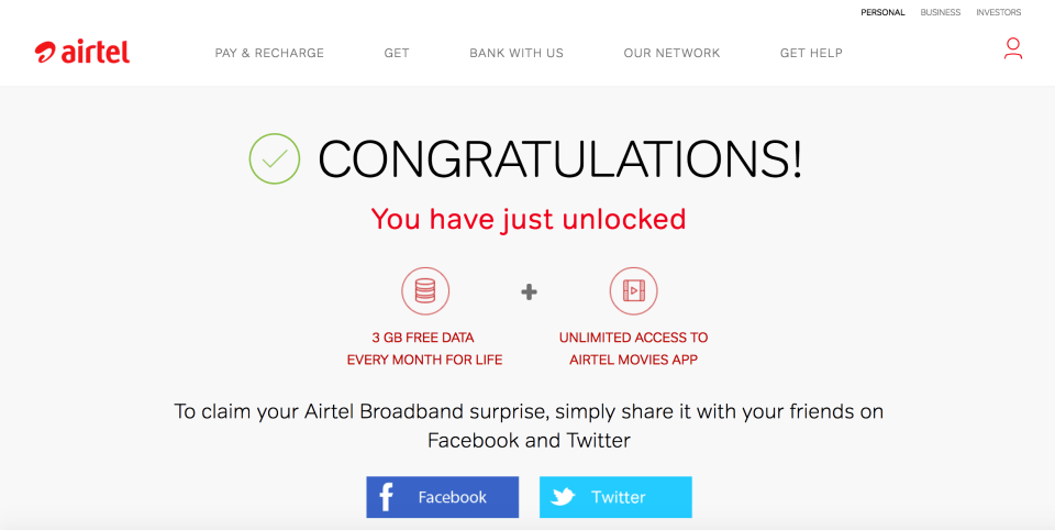 Airtel broadband offers