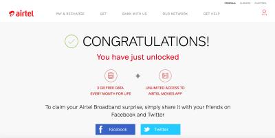 Airtel broadband offers 1