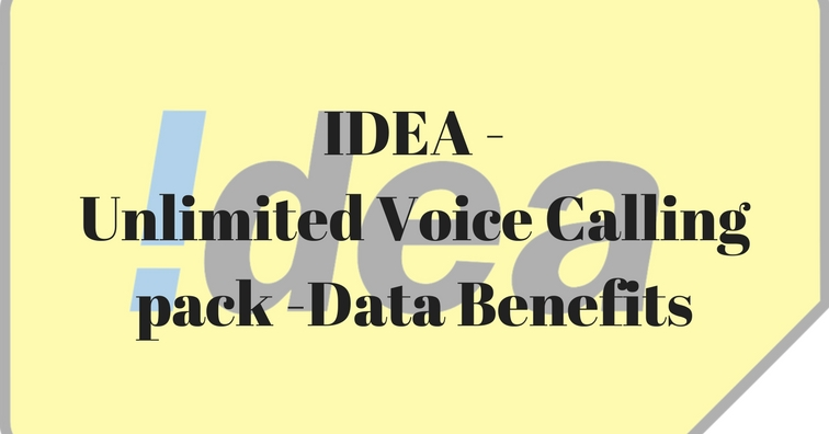 IDEA - Unlimited Voice Calling pack -Data Benefits