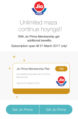 join jio prime membership programme- enroll procedure