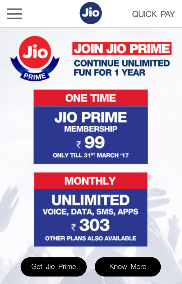 Jio Prime Membership Programme – Enroll Procedure