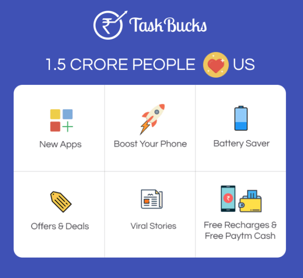Task Bucks – Get Free Wallet cash – Recharge – Refer & Earn