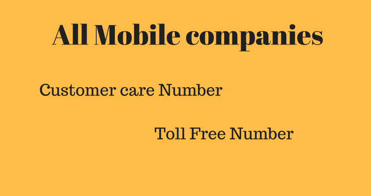 Customer care Numbers