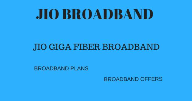 Jio Giga Fiber Broadband Plan – JIO Broadband – Plans