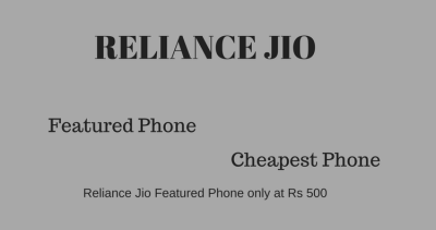 Reliance Jio Featured Mobile phone