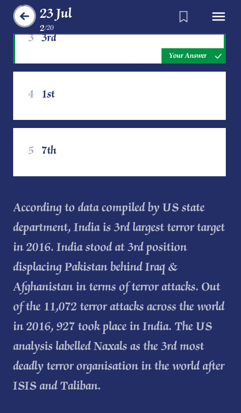 Current Affairs & Daily General Knowledge Quiz App