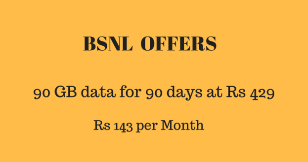 BSNL offers 1GB daily data – Unlimited call – Rs 429