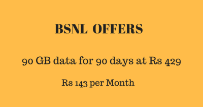 BSNL offers 1GB daily data - Unlimited call - Rs 429