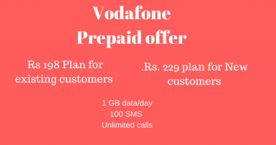 Vodafone Rs 198 prepaid Recharge plan
